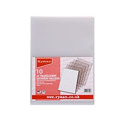 Ryman Thumb Cut Folders A4 100 Micron Pack of 10
