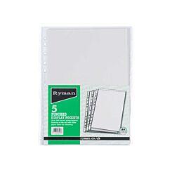 Ryman Display Pockets A4 Pack of 5