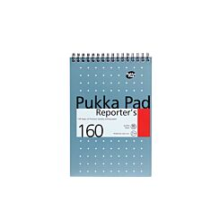 Pukka Reporters Pad 80gsm Ruled Wirebound 215x140mm 160 Pages 80 Sheets