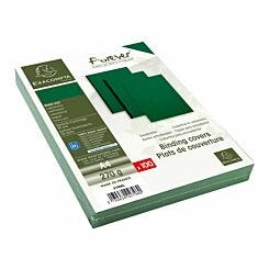 Exacompta Forever Leather Grain Covers A4 Pack of 400 Green