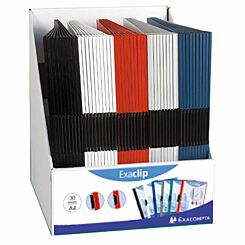 Exacompta Exaclip Presentation Folder Pack of 50 Assorted