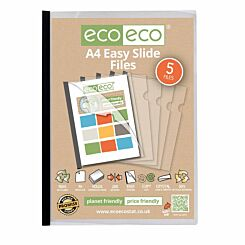 eco eco Easy Slide Files A4 Pack of 5