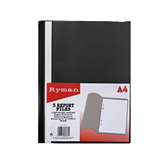 Ryman Report File A4 Pack of 5 Black