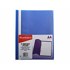 Ryman Report File A4 Pack of 5 Blue