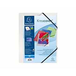 Exacompta Kreacover 3 Flap Folder A4 Pack of 25 Clear