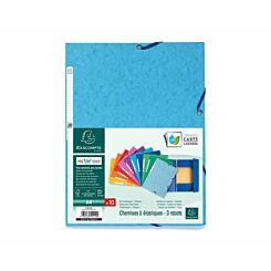 Exacompta Europa 3 Flap Elastic Folder A4 Pack of 50 400gsm 10 Assorted Colours