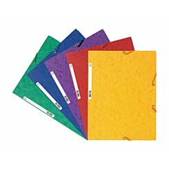 Exacompta Europa 3 Flap Elastic Folder A4 Pack of 50 400gsm Assorted Colours A