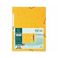 Exacompta Europa Elastic 3 Flap Folder A4 Pack of 50 Yellow