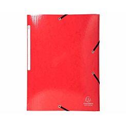 Exacompta Iderama Elastic 3 Flap Folder A4 Pack of 25 Red
