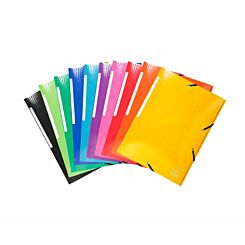 Exacompta Iderama Max Capacity 3 Flap Folder A4 Pack of 25 Assorted