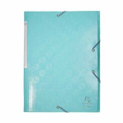 Exacompta 1928 Elastic 3 Flap Folder A4 Maxi Pack of 24 Blue