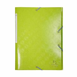 Exacompta 1928 Elastic 3 Flap Folder A4 Maxi Pack of 24 Lime Green