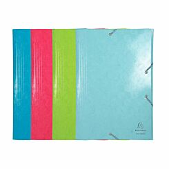 Exacompta 1928 Elasticated 3 Flap Folder A3 Pack of 10 Assorted