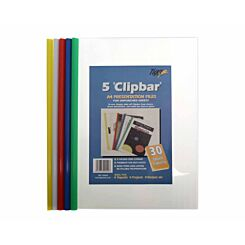 Tiger Clipbar Presentation Files A4 Pack of 5