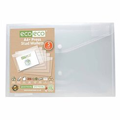 eco eco Press Stud Wallets A4 Plus Pack of 5