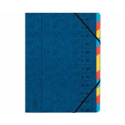 Exacompta Europa Multi File 12 Part Card Dividers A4 400gsm Pack of 8