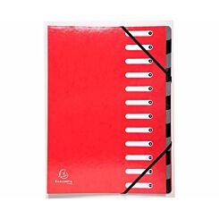 Exacompta Iderama Multi File 12 Part A4 600gsm Pack of 6 Red