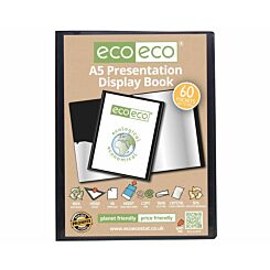 eco eco Presentation Display Book 60 Pocket A5 Black