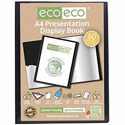eco eco Presentation Display Book 60 Pocket A4 Black