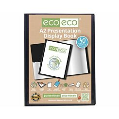 eco eco Presentation Display Book 40 Pocket A2 Black