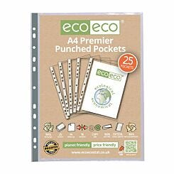 eco eco Premier Punched Pockets A4 Pack of 25