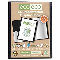 eco eco Presentation Display Book A4 20 Pockets