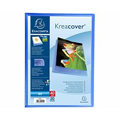 Exacompta Kreacover A4 Display Book 20 Pocket Pack of 20 Blue