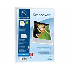 Exacompta Kreacover A4 Display Book 20 Pocket Pack of 20 white