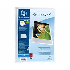 Exacompta Kreacover A4 Display Book 60 Pocket Pack of 10 Clear