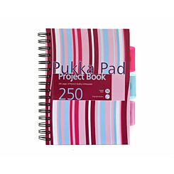 Pukka Project Book Pad A5 80gsm Ruled with Margin Wirebound 250 Pages 125 Sheets