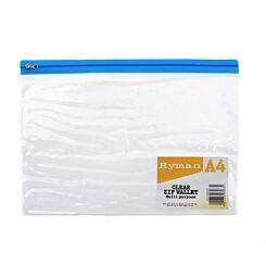 Ryman Zip Bag A4 Pack 15 Clear