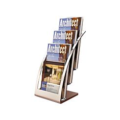 Deflecto Contemporary Counter top Literature Holder Black