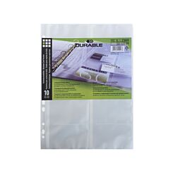 Visifix Business Card Pockets A4 Pack of 10