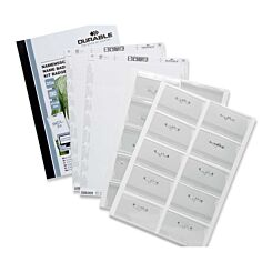 Durable Pin Name Badge Set 54x90mm plus Holders/Inserts