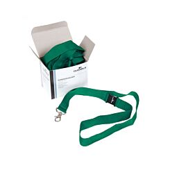 Durable Textile Lanyard Necklace 20mm For Badges Green