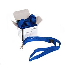 Durable Textile Lanyard Necklace 20mm For Badges Blue