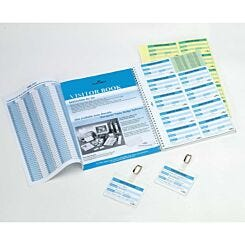 Durable Refill Visitor Book 100 Easy to Complete Badge Inserts