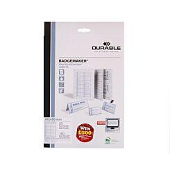 Durable Badge Inserts Microperforated A4 150gsm Pack of 160