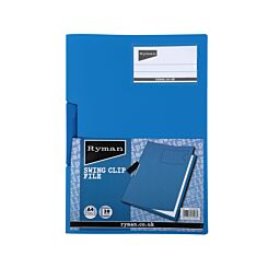 Ryman Swing Clip File A4 30 Sheet Blue