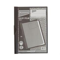 Ryman Clip File A4 60 Sheet Black