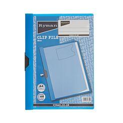 Ryman Clip File A4 60 Sheet Blue