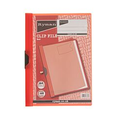 Ryman Clip File A4 60 Sheet Red