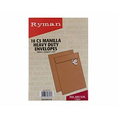Ryman Heavy Duty Envelope C5 Peel and Seal 115gsm Pack of 10
