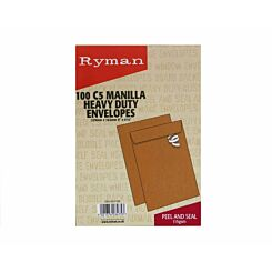 Ryman Heavy Duty Envelopes C5 115gsm Peel & Seal Pack of 100
