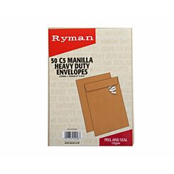 Ryman Heavy Duty Envelopes C5 115gsm Peel and Seal Pack of 50
