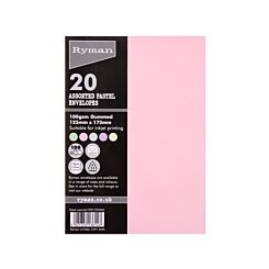 Ryman Envelopes for Cards 125x175mm 100gsm Pack of 20