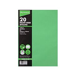 Ryman Envelopes C5 229x162mm 100gsm Pack of 20 Meadow Green