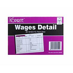 Kopirite Wages Detail Pad 160 Pages  80 Sheets