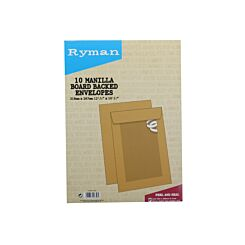 Ryman Board Backed Envelopes 318x267mm Peel & Seal Pack of 10