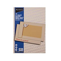 Ryman Board Backed Envelopes C4 Peel & Seal Pack of 10